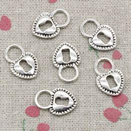 Wholesale Padlock Pendant Necklace - 60pcs Charms padlock heart key 17*11mm Antique Silver Pendant Zinc Alloy Jewelry DIY Hand Made Bracelet Necklace Fitting