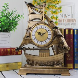 Wholesale Watch Sat - Wholesale-16 Inches Table Clocks The Sitting Room European-style Clock Rural Contracted Fashion Clock Home Decor Watch