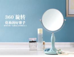 Европа тип двойной вращающийся косметическое зеркало мода настольное зеркало для макияжа смолы прекрасный принцесса туалетный зеркало оптом от Поставщики оптовая торговля косметикой europe