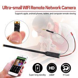 Wholesale smallest hd cctv camera - WIFI P2P mini IP Camera Full HD 1080P DIY Module camera Ultra-small Mini DV DVR Wireless Home Security Surveillance CCTV Pinhole Camera a1