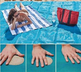 Wholesale Holiday Car Sales - 2017 Sand Free mat Mattress Summer Beach Mat 200cm x 200cm Waterproof Outdoor Camping Picnic Portable Sandy Pad picnic blankets holiday sale