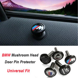 Wholesale Bmw E81 - New Styling M Tech Carbon Fiber Car Lock Modified Door Pin Protection for BMW E36 E46 E63 E64 E81 E82 E88 E92 E93
