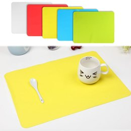 Wholesale western napkins - Wholesale- Thick silicone Bakeware Mat Sheet Placemat heat insulation pad napkin dining table tray mat coasters Western pad desk pad Y1