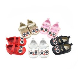 Wholesale Baby Girl Pre Walker Shoes - Baby Girls toddler shoes infants anti-slip owl pre walkers autumn UP shoes girls Soft Sole party shoes 0-1T