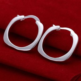 Wholesale Ruby Hoop Shipping - fashion earings new arrivals!Free shipping silver earring.fashion jewelry jewellry Hoop Earrings E123 Best Christmas Gift