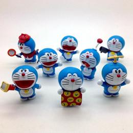 Wholesale Cute Mini Anime Figures Set - 8 Pcs set Anime Cartoon Cute Doraemon Mini Action Figure Toys Collectible Model PVC Dolls For Girls Boys Children's Gift