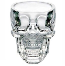 Wholesale Tv Glasses Sale - 2017 Hot Sales New Crystal SKULL Head Vodka Whiskey Shot Glass Cup Drinking Ware Home Bar Cup Mug EHO TOP1770