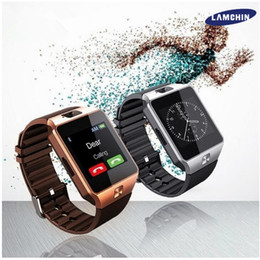 Wholesale Can Bluetooth - DZ09 Smart Watch Bluetooth Wristbrand Android Smart SIM Intelligent Mobile Phone Watch with Camera Can Record the Sleep State Retail Package