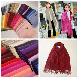 Wholesale Scarf Ring For Men - 51 Colors Warm Scarf for Men Women Tassel Cashmere-like Teenager Boy Girls Scarves Shawl Winter Thickening Neckerchief 50 PCS YYA633