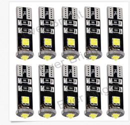 Wholesale 3smd Led - 100PCS T10 3SMD CANBUS CREE Error free 194 168 W5W Cree LED 3 SMD Led Wedge light 12V