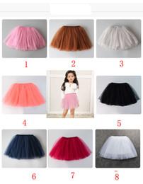 Wholesale Child Skirts - 8 color INS baby short skirt Four layer grenadine skirtBaby Girls TUTU Skirts 2016 Summer Pettiskirt for Kids Children Short Party Skirt