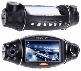 Wholesale usb zoom - USB 2.0 Interface Type Night vision 2.7 inch R310 HD 1080P Dual Lens Car DVR IR Night Vision Rear View Camera Recorder