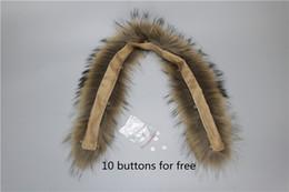 Wholesale Genuine Fur Collars - Wholesale-Real fur collar 100% genuine raccoon fur scarf 70cm winter for women hot selling