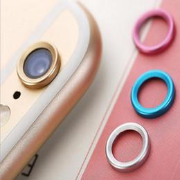 lente de revestimento do telefone Desconto Protetor de lente da câmera do telefone anel de metal guarda círculo para iphone 6 6 s além de voltar camera lens case capa bumper dhl free gsz277