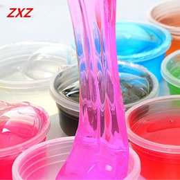 Wholesale Blow Bubbles - Wholesale- 1PCS Slime Clay Colorful Non-toxic Blowing Bubbles Crystal Mud Clay Toy Draw Slime Environmental Protection Funny Toys Gift