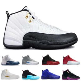 Wholesale Army Games Online - 2017 air retro 12s shoes 12 Men Basketball Shoes TAXI Flu Game gamma blue Playoffs flint French Blue Varsity red sale online