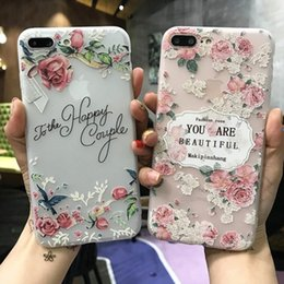 Wholesale Mobile Phone Flower Case - For iphone7 8 plus cell phone cases with iphone6s New art flowers protection sets of silicone factory direct wholesale mobile phone shell