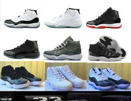 Wholesale Cool Skateboarding Shoes - High Quality 11 XI Barons Space Jam Bred Gamma Blue Basketball Shoes Men Women 11s Concords 72-10 Legend Blue Cool Grey Sneakers