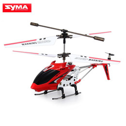 Wholesale Metal 3ch Helicopter - Original Syma S107G S107 Mini Drones 3CH RC Flying Toy Gyro Radio Control Metal Alloy Fuselage RC Helicoptero Mini Copter Toys