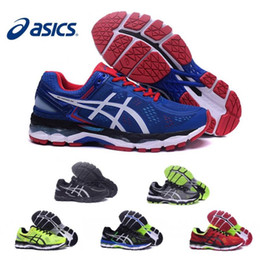 Wholesale Volleyball Tennis Shoes - 2017 Wholesale Asics Gel-Kayano 22 Cushioning Running Shoes T547N T5A1N TJG538 Men Original Top Quality Boots Athletic Sport Sneakers 36-45