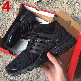 Wholesale Flat Leather Shoe - 2017 TOP Air PRESTO BR QS Breathe Black White Mens Basketball Shoes Sneakers Women Running Shoes For Men Sports Shoe,Walking designer shoes