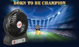 Wholesale Air Cooler Stand - Orignial Brand Portable Rechargeable USB Fan 4 Blades Desk Mini Air Cooling Blower Cooling Blower USB Clip Stand Table Fan with 18650Battery