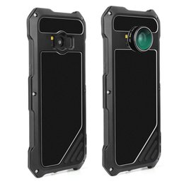 Wholesale Armor Cellphone - Samsung S8 Armor Steel Cover Waterproof Aluminum Alloy Ultra-Thin Phone Cases Metal Cellphone Case with Camera Lens for S8+