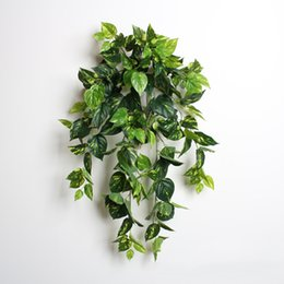 Wholesale Grapes Vines Wholesale - Home Decor Wall Decals Green Plants Vines Ivy Grape Leaf Vines Grey Ivy Leaf For Indoor Decoration Mixed Lot