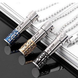 Wholesale Perfume Holder Wholesale - Wholesale- 1 pcs Fashion jewelry Stainless Steel Pill Ash Holder Perfume Box Memorial Cremation Urn Pendant Necklace