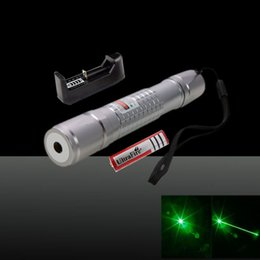 Wholesale Green Laser Pointers Power Point - Green Laser Pointer 305 High Power Grid Pattern Lazer Pen Flashlight Powerful Single Point Laser Pen+Battery+Charger