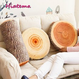 Wholesale Unique Families - Wholesale- Hiatema Soft Simulation 3D Tree Stump High-elastic Pillow Cushion Plush Toy Unique Gift for Kids Friends or Family