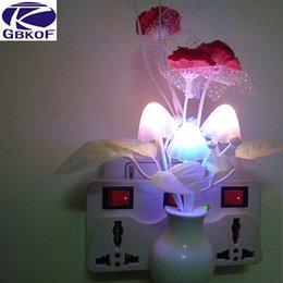 Wholesale Colorful Dream Lamp - EU US plug Romantic Colorful Dream flower Night Light Sensor Control Bed LED Light Potting Lamp for Home Bedroom Decoration