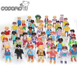 Wholesale Wholesale Police Toys For Kids - 10pc 7cm Playmobil figures toy set 2016 New Playmobil police pirate princess horse house action figurines doll lot gifts for kid