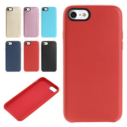 Wholesale Iphone Cases Pure - NEW Pure Color Shockproof Luxury PU Leather Slim Ultra-thin Protective Fitting Case Cover for iPhone 7