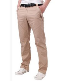 Wholesale Chino Trousers - Wholesale- 2017 New Spring Autumn Mens Straight Slim Fit Casual Chino Pants Business Formal Dress Male Classic Cotton Long Jeans Trousers