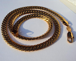 Wholesale Gold Snake Link Necklace - 18K Real SOLID GOLD GF AUTHENTIC MEN'S CUBAN LINK CHAIN NECKLACE 600* 9MM Jewelry USA Top designers Sales champion