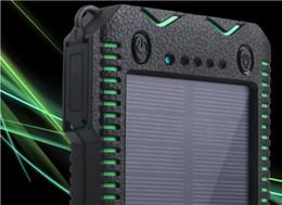 carregadores de bateria portátil Desconto Banco de Energia Solar Dupla USB Power Bank 20000 mAh Bateria Externa Carregador Portátil Bateria Externa Pacote para o telefone Móvel