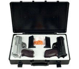 Wholesale Guns Wholesale Pistol - NEW CYMA TWIN SPRING AIRSOFT DUAL PISTOL COMBO PACK SET Hand Gun w  Case 6mm BB