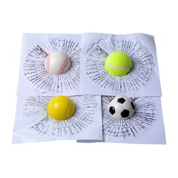 Wholesale Windshield Adhesive Wholesale - Car Styling Baseball Football Tennis Stereo Broken Glass 3D Sticker Car Window Ball Hits Self Adhesive Funny Car Stickers