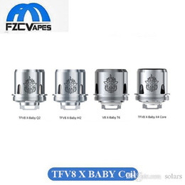 Wholesale Beast X - 100% Original SMOK TFV8 X-Baby Coil Q2 M2 X4 T6 Coil Head Baby Beast Brother Replacement Coil DHL Free