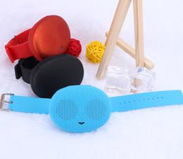 pequeños altavoces bluetooth para iphone Rebajas Nueva T1 Bluetooth Estéreo Desgaste Inteligente Relojes Parlantes Sonido Impermeable subwoofer exterior Pequeño Para iphone Samsung Altavoces HTC