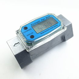 Wholesale Flow Gauges - Wholesale- digital fuel flow meter diesel gasoline methanol water flowmeter counter alcohol caudalimetro fuel flow sensor indicator gauge