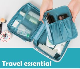 Wholesale Jewelry Storage Hanging Bags - Portable travel makeup pouch make up handbags cosmetic bag case women storage bags hanging toiletries kit jewelry case