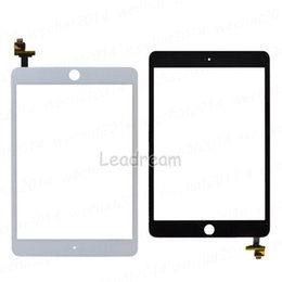 Wholesale Ipad Mini Touch Screen - 30PCS Original Touch Screen Glass Panel with Digitizer with IC Connector for iPad Mini 3 Black and White Free DHL