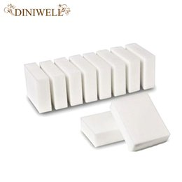Wholesale Stain Erasers - 10 Pcs Magic Super eraser Clean Melamine Sponge Wash Cleaner Stain Remover Pad Natural Eco White Home Kitchen Cleaning TQ-KC026