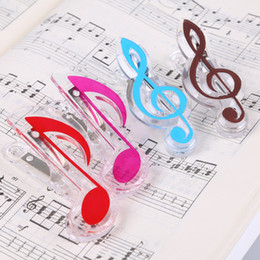 Wholesale Book Clip Notes - Wholesale 2017 Fashion new arrival music clip stationery folder clip,musical note clips Piano Book Page Clips