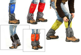 Wholesale Foot Guard - 2Pairs Outdoor Waterproof Windproof Ski Snow Gaiters Leg Protection Guard Skiing Hiking Climbing Moutaineering 2017 FOOT WARMER