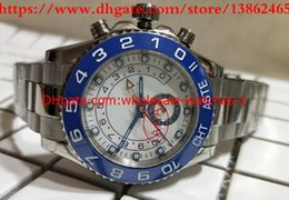 Wholesale Paper Christmas Gifts - Christmas gift Luxury white Dial Ceramic Bezel 116680 44mm Automatic mechanical Watch Mens gifts Wristwatches With Original Box Papers