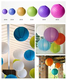 """Wholesale black wall lighting - 6""""-16""""(10-15-20-25-30--40cm)Decorative Paper Lampion Ball Festival Chinese Paper Lantern For Christmas pendant Wedding Party Decoration"""