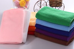 Wholesale Car Microfibre Cloths - 25*25cm Microfiber Car Cleaning Towel Microfibre Detailing Polishing Scrubing Waxing Cloth Hand Towel